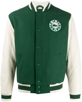 Lacoste Live logo patch bomber jacket