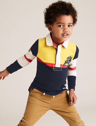 Marks and Spencer Pure Cotton Stag Rugby Top (2-7 Yrs)