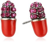 Marc Jacobs Spring 2017 Strass Pill Red Stud Earrings