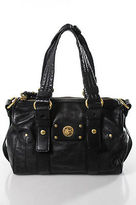 Marc by Marc Jacobs Black Leather Satchel Handbag Size Small