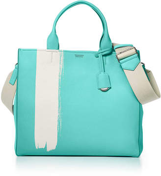 Tiffany & Co. & Co. Women's tote in black grain calfskin leather with a Blue accent