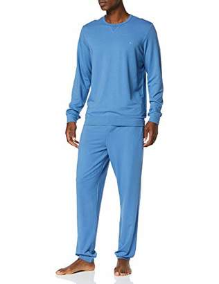 Hom Men's Indigo Modal Homewear Pyjama Set,X-Large