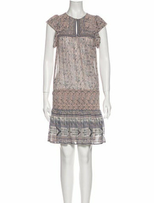 Ulla Johnson Silk Knee-Length Dress Pink