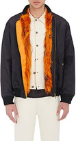 Mr and Mrs Italy Men's Fur-Lined Nylon Bomber Jacket