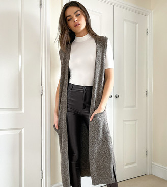 M Lounge relaxed maxi sleeveless cardigan co-ord