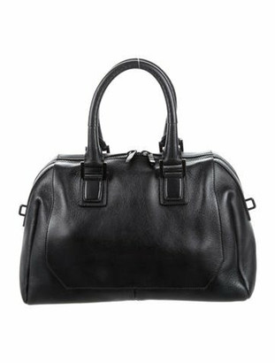Narciso Rodriguez Leather Structured Satchel Black