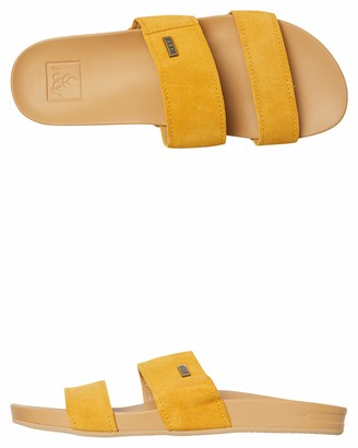Reef Women's Cushion Bounce Vista Suede Slide Sandal