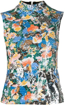 M Missoni Floral Sleeveless Top