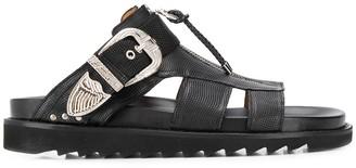 Toga Virilis Buckle Leather Sandals