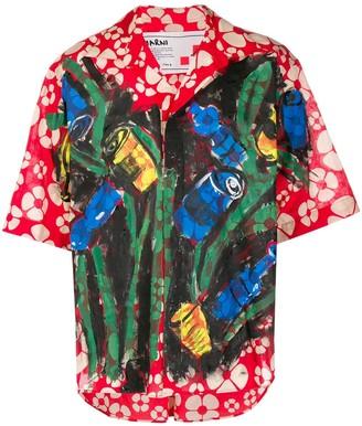 Marni Graphic-Print Painted Shirt