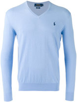 Polo Ralph Lauren embroidered logo jumper - men - Cotton/Cashmere - S