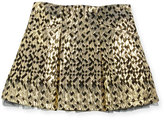 Billieblush Metallic Jacquard Skirt, Gold/Black, Size 4-8