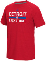 adidas Men's Detroit Pistons On Court Graphic Climalite T-Shirt