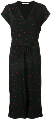 Chinti and Parker strawberry print midi dress