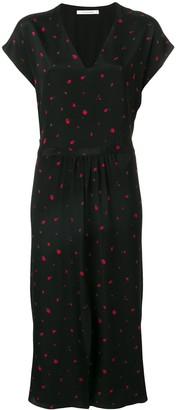 Chinti and Parker Strawberry Print Midi Dress