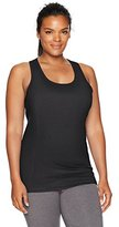 Fruit of the Loom Women's Plus Size Strappy Built-in Bra Tank