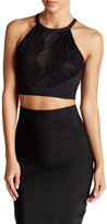 Wow Couture Banded Lace Cropped Tank