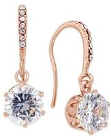 Charter Club Rose Gold-Tone Crystal Threader Earrings, Created for Macy's