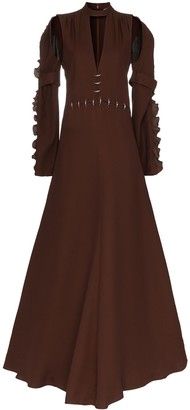 Chloé Embellished waist silk gown