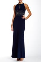 JS Boutique Embellished Keyhole Gown