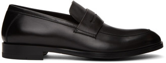 Ermenegildo Zegna Black Leather Loafers