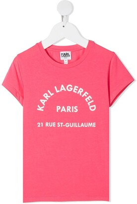 Karl Lagerfeld Paris Rsg Address logo print T-shirt