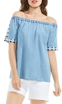 Vince Camuto Chambray Off The Shoulder Top