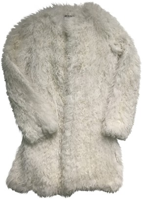 Meteo White Mongolian Lamb Coats