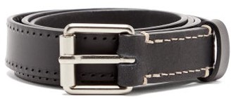 Lemaire Eyelet-strap Leather Belt - Black