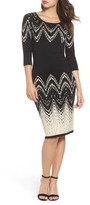 Gabby Skye Women's Print Sweater Dress