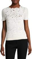 Oscar de la Renta Women's Birdsnest Cotton Sweater