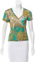 Etro Paisley Short Sleeve Top