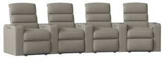 Magnum Red Barrel Studio HR Series Curved Home Theater Recliner (Row of 4) Red Barrel Studio Body Fabric: Classic Grey