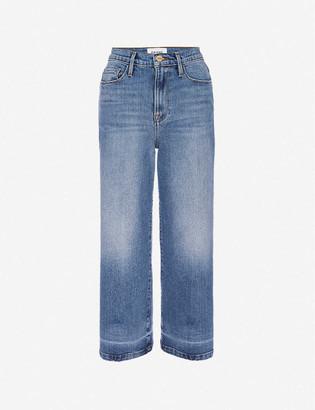 Frame Ali cropped wide-leg high-rise stretch-denim jeans