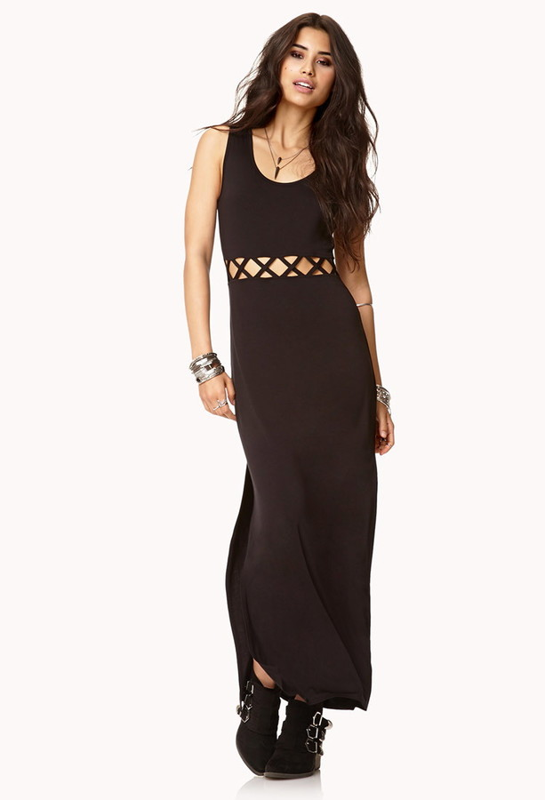 Forever 21 Caged Front Maxi Dress