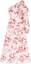 Anouki one-shoulder printed maxi dress