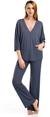 Hanro Women's Mona 3/4 Sleeve Pajama Set
