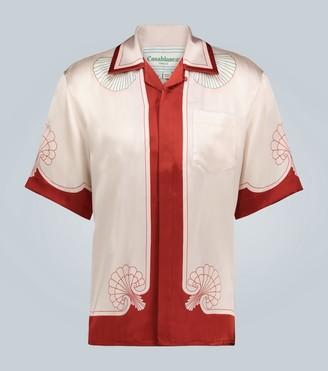 Casablanca Coquillages printed silk shirt