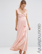 Asos Soft Maxi Dress With Ruffle