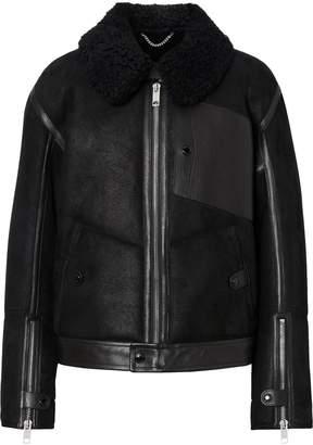 Burberry Leather Shearling Biker Jacket