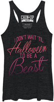 Chin Up Apparel Women's Tank Tops BLK - Black Heather 'Don't Wait Til Halloween' Racerback Tank - Women