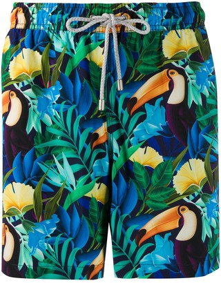 Bluemint Bird of Paradise print swim shorts
