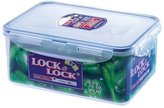 Lock & Lock Rectangular Storage Container - Clear/Blue, 2.3 L