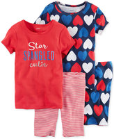 Carter's 4-Pc. Star Spangled Cutie Cotton Pajama Set, Little Girls (2-6X) & Big Girls (7-16)