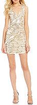 As U Wish Sequined V-Neck Sheath Dress