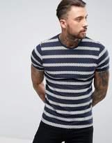 Brave Soul Summer Stripe Print T-Shirt