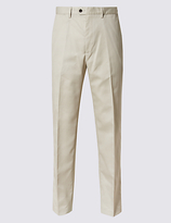 M&S Collection Tailored Fit Pure Cotton Chinos