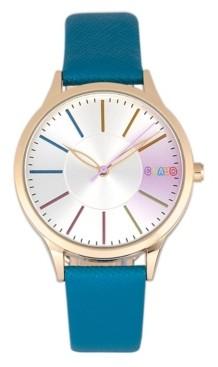 Crayo Unisex Gel Blue Leatherette Strap Watch 35mm