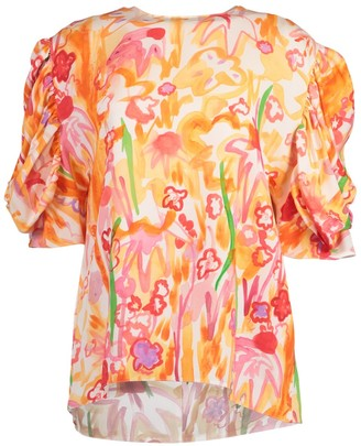 Marni 3/4 Sleeve Abstract Print Blouse