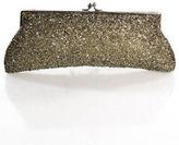 Moyna Silver Beaded Clutch Handbag Size Small